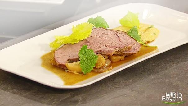 Rezepte: Andreas Geitl - Kalbsrose mit Schmorgemüse und Polenta
