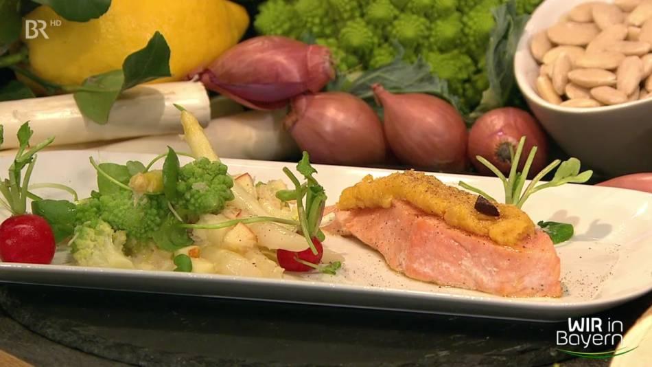 Rezept Andreas Geitl: Lachs mit Sauerkrautkruste und Meerrettichgemüse