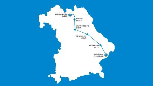 BR Radltour 2019 - Karte