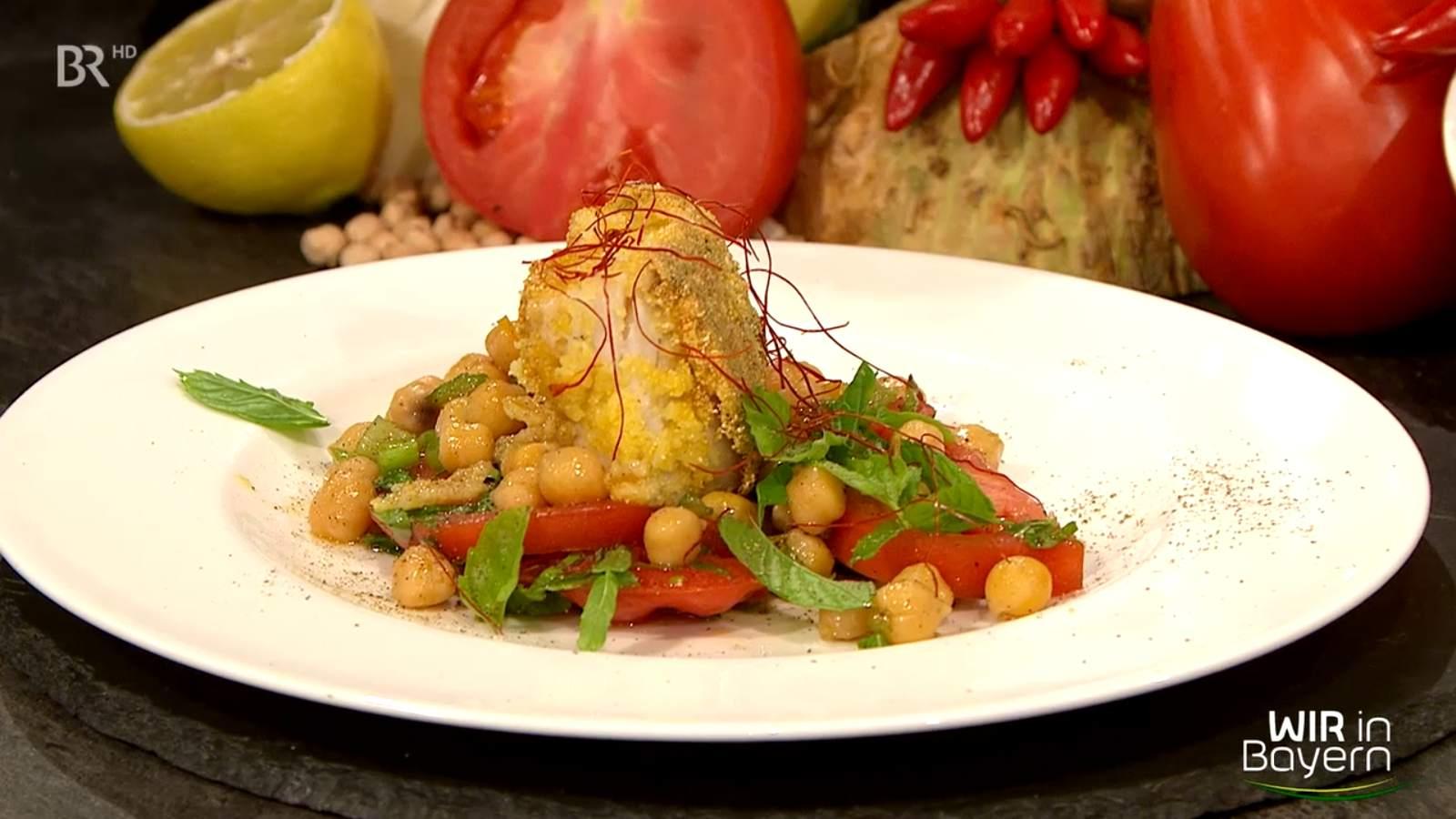 Rezept Andreas Geitl - Kabeljau mit Tomaten und Kichererbsen