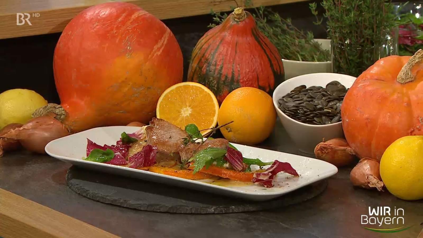 Rezept Andreas Geitl - Schweinefilet mit Dijonsenfsoße und gebackenem Kürbis