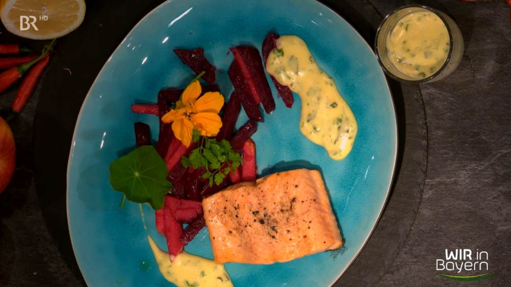 Andreas Geitl - Rezept Saibling mit Sauce bearnaise und Rote Bete