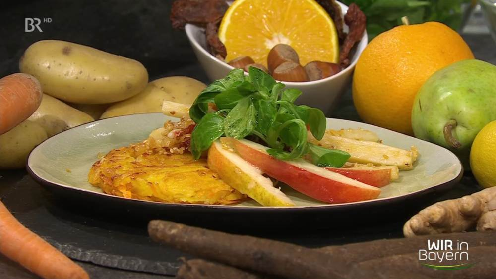 Schwarzwurzeln mit Karotten-Rösti