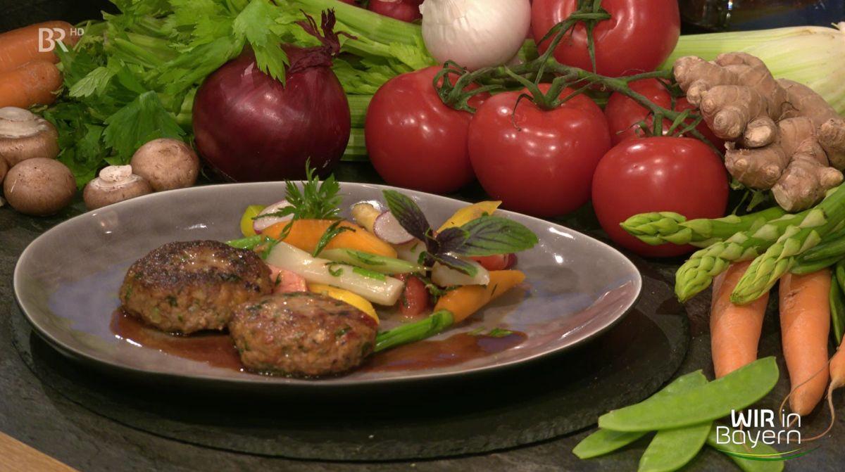 Rezept Andreas Geitl - Italienische Fleischpflanzerl mit Frühlingsgemüse